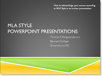 MLA Style PowerPoint Presentations