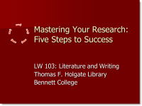 Mastering Your Research in 5 Steps