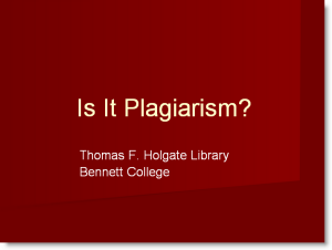 Is It Plagiarism Tutorial