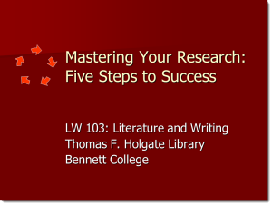 Mastering Your Research: Five Steps to Success